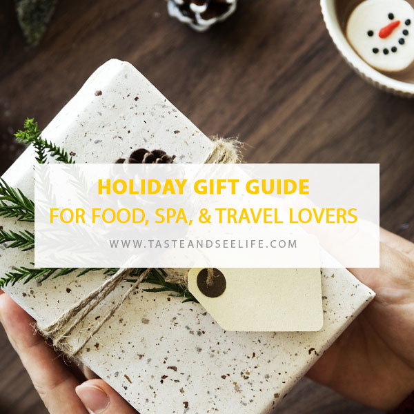 Holiday gift guide for food spa and travel lovers Christmas gift ideas for cooking lovers